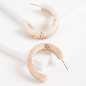 3/$20 New Chunky Marbled Hoop Earrings